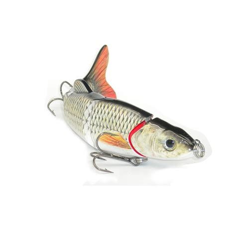 Lure Swimbait 3d Orange multi section 5 section fishing lure crank bait swimbait bass shad dace 3d g7q4 ebay