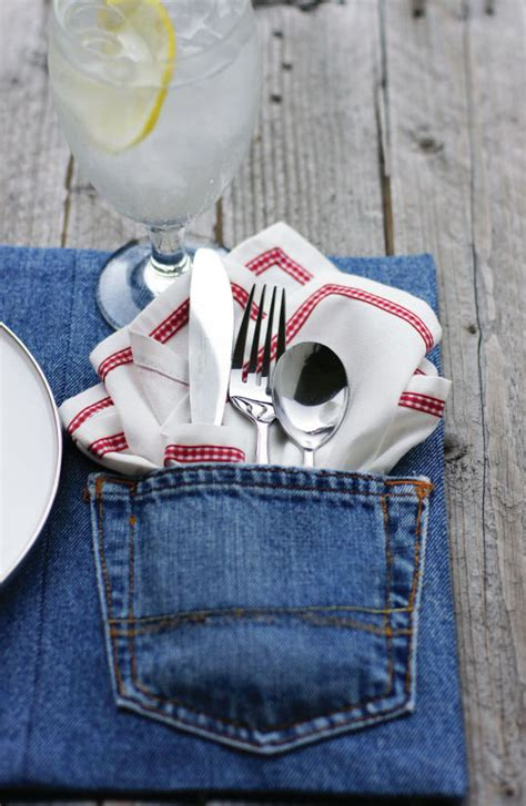upcycled craft ideas make upcycled denim placemats dollar store crafts