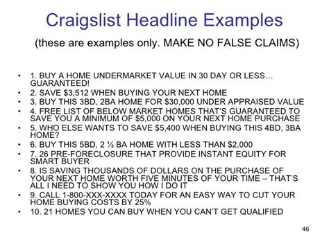 craigslist real estate ad templates step by step guide to craigslist marketing success
