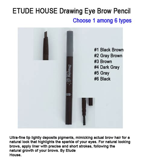 Etude House Drawing Eyebrow Upsize No 4 Ori etude house drawing eye brow pencil choose 1 among 6 types freebie ebay