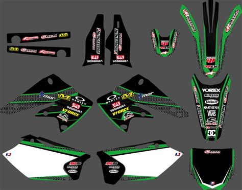 Kawasaki 250f Sticker Kits by New Style Team Graphics Backgrounds Decals Stickers Kits