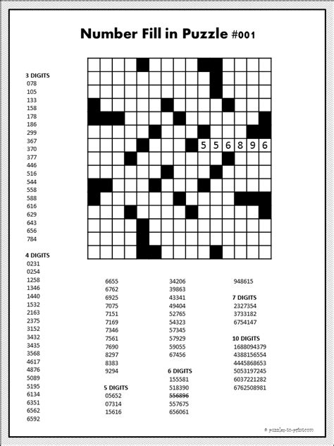 printable number logic puzzles printable number puzzles