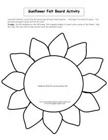 sunflower printable template sunflower felt board activity t