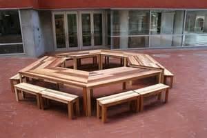Picnic Bench Designs Esstisch Mit Bank Aus Europaletten Tolle Essgruppe Im