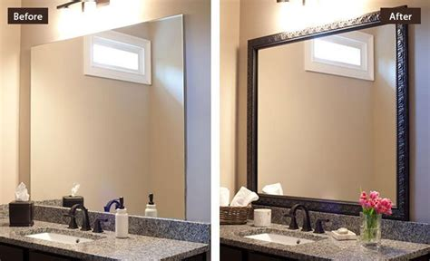 how to add a frame to a bathroom mirror custom diy bathroom mirror frame kits