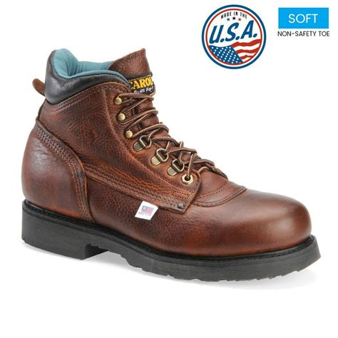 mens work boots made in usa carolina s plain toe 6 inch work boots made in usa 309