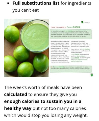 Detox Program For Sale by Green Smoothie 7 Day Detox Diet Plan For Sale From