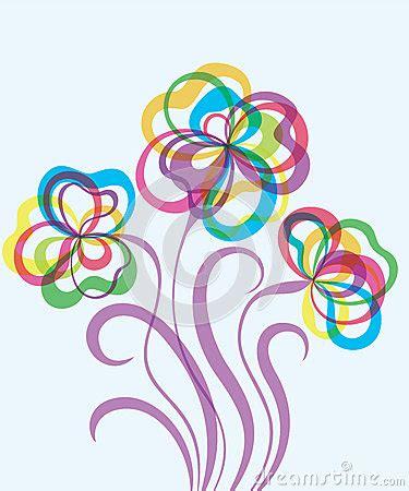 imagenes de flores abstractas fondo decorativo eps10 con las flores abstractas