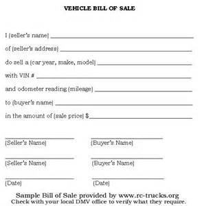 bill of sale form template printable sle vehicle bill of sale template form