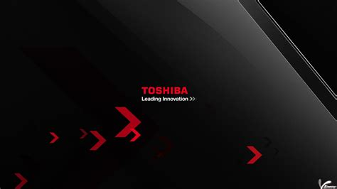 download wallpaper for laptop toshiba logo on black backgroung of toshiba leading innovation