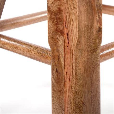 sheesham stuhl design barhocker quot toreo quot 75 cm echtleder sheesham holz