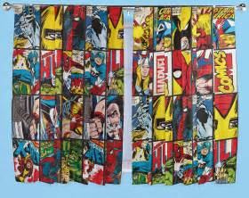 Comic Book Curtains Marvel Comics Defenders Curtains 66 Quot X 54 Quot 66 Quot X 72 Quot Drop Childrens Bedroom Ebay