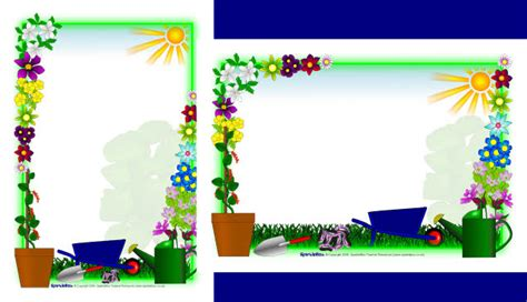plant growing  page borders sb sparklebox clip