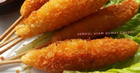 resep sempolan krispi enak  sederhana cookpad