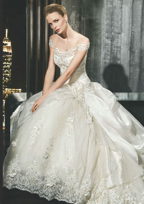 wedding dress business   shoulder wedding dresses