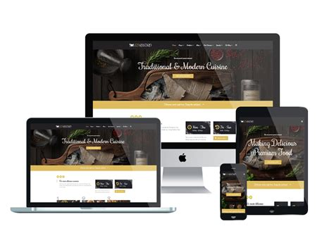 Top Best Free Restaurant Website Templates For Joomla 2018 Responsive Joomla And Wordpress Themes Free Restaurant Website Templates Responsive