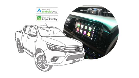 carplay for android apple carplay android auto upgrade for toyota hilux 2016 2017