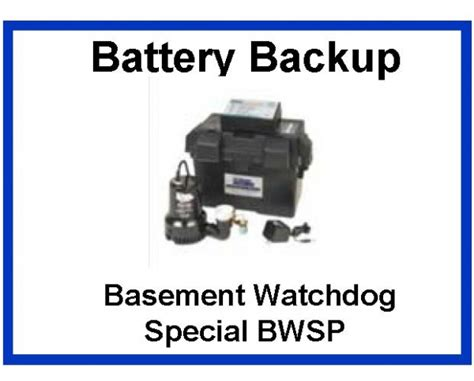 basement watchdog big battery backup sump pumps sump