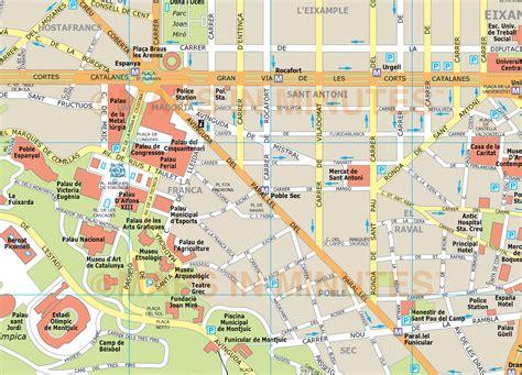 printable maps barcelona barcelona city map