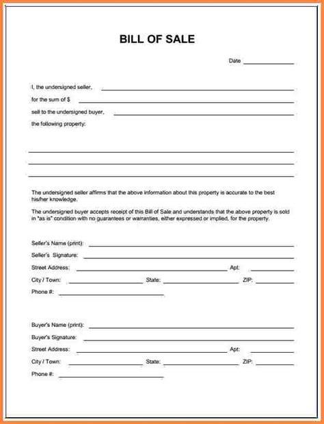 simple bill of sale 3 simple bill of sale pdf letter bills