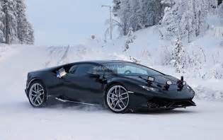 Lamborghini Blacked Out Lamborghini Testing Blacked Out Huracan In Winter