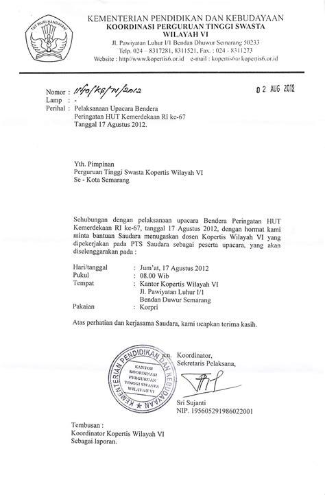 contoh surat edaran peringatan hut ri 28 images surat