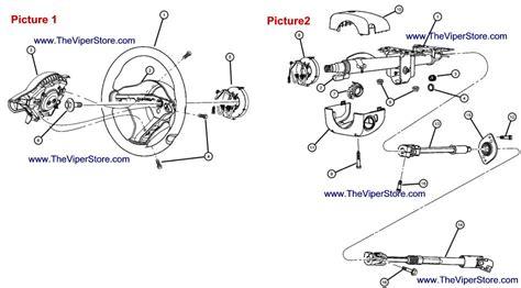 steering wheel parts diagram viper 2003 2005 factory parts diagram steering wheel