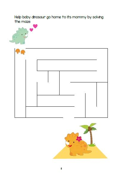 printable dinosaur maze dinosaur activity sheets for 3 5 years old free