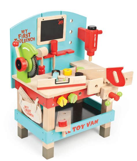 wooden tool bench for toddlers le toy van my first tool bench