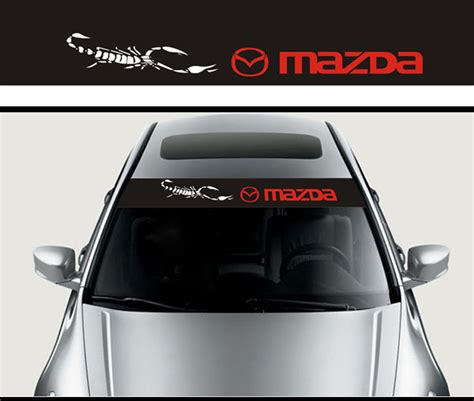 mazda car emblem mazda stickers front windshield decal stickers fit for
