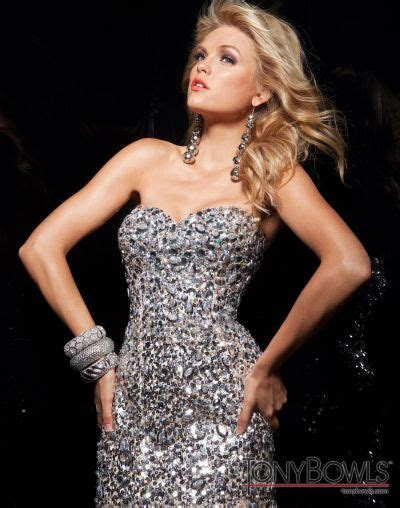 the latest brand name tony bowls prom dresses and jovani dresses tony bowls paris sequin evening gown 113720 french novelty