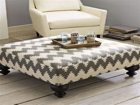 Large Upholstered Ottoman Coffee Table Best 25 Upholstered Ottoman Coffee Table Ideas On With Inside Large Tables Diy Regard