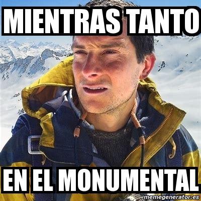 Bear Grylls Blood Meme - meme bear grylls mientras tanto en el monumental 4071611