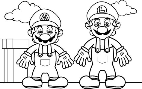 games coloring pages super mario