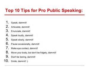 public speaking sample presentation