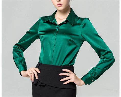 popular green silk shirts buy cheap green silk shirts lots