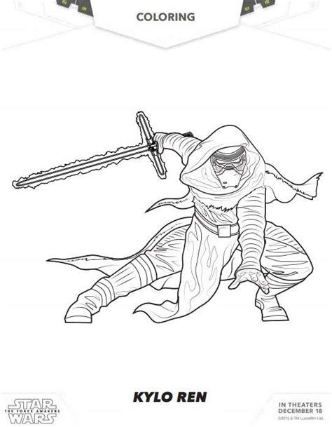 lego kylo ren coloring page star wars the force awakens coloring pages and activity