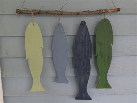 hanging art reclaimed wood fish wall hanging custom made rustic lake