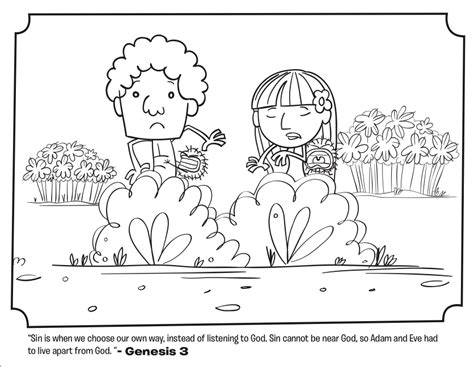 Genesis 3 Coloring Page by Adam And Leave The Garden Coloring Pages Whats In