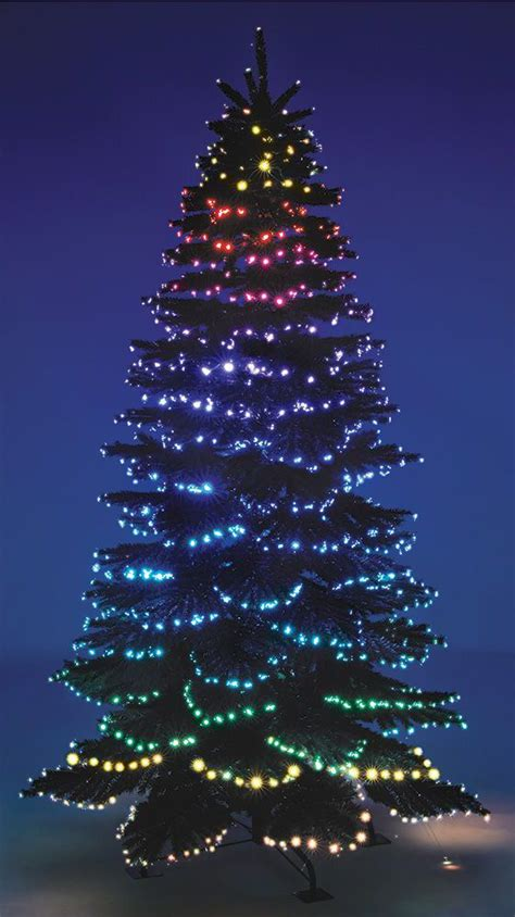 outdoor tree light shows the cascading color light show tree this is the fiber optic tipped tree that creates