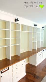 Build Built In Bookshelves Build A Wall To Wall Built In Desk And Bookcase