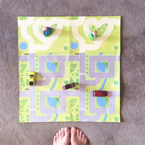 printable road play mat printable road garden play mats be a fun mum