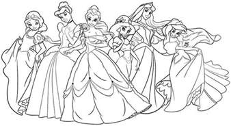 disney princesses coloring coloring