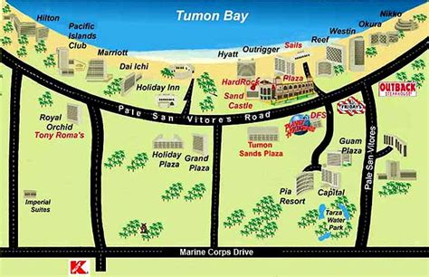 printable road map of guam guam cruise port guide cruiseportwiki com