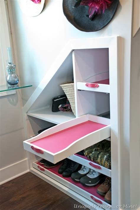 dormer storage ideas dormer windows knee walls and shoe shelves on pinterest