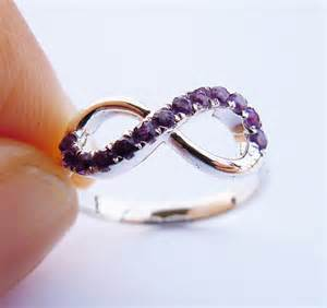 Amethyst Infinity Ring Infinity Ring In Sterling Silver Amethyst By
