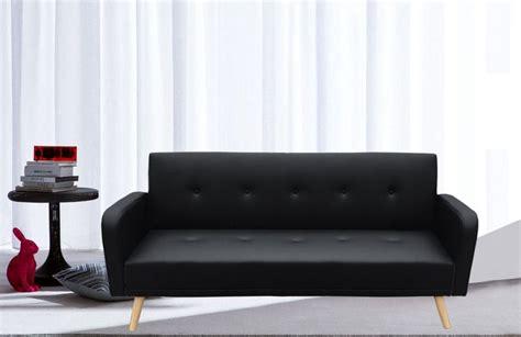 divano ecopelle nero divano letto rodrigo 210x82x88 microfibra ecopelle bianco