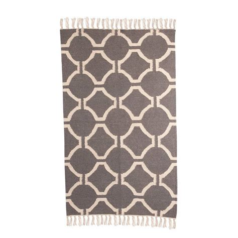 Grey Geometric Rug Uk by Geometric Wool Rug Grey By Jones Vintage
