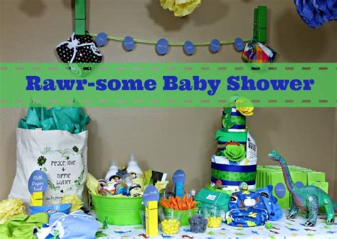 Dinosaur Baby Shower Decorations by Dinosaur Rawr Baby Shower Decoration Ideas Fluffinawesome