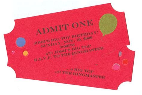 these ticket stub invitations are so easy to make and